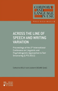 Across the Line of Speech and Writing Variation