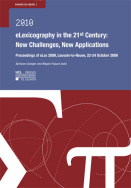 eLexicography in the 21st century : New challenges, new applications