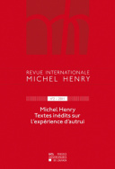 Revue internationale Michel Henry n°2 - 2012