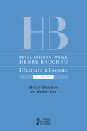 Revue internationale Henry Bauchau n°4 - 2012