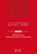 Revue internationale Michel Henry n°8 – 2017