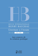 Revue internationale Henry Bauchau n°6 - 2015