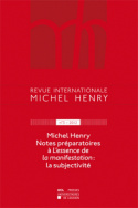 Revue internationale Michel Henry n°3 - 2013