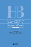 Revue internationale Henry Bauchau n°8 – 2016/2017