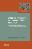Widening the Scope of Learner Corpus Research