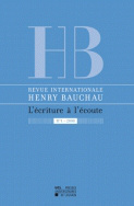 Revue internationale Henry Bauchau n°1 - 2009