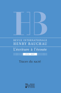 Revue internationale Henry Bauchau n°10 – 2019