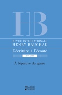 Revue internationale Henry Bauchau n°9 – 2018